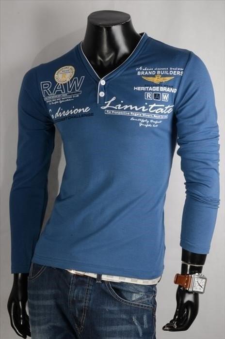 Pánské tričko modré p-tr27mo