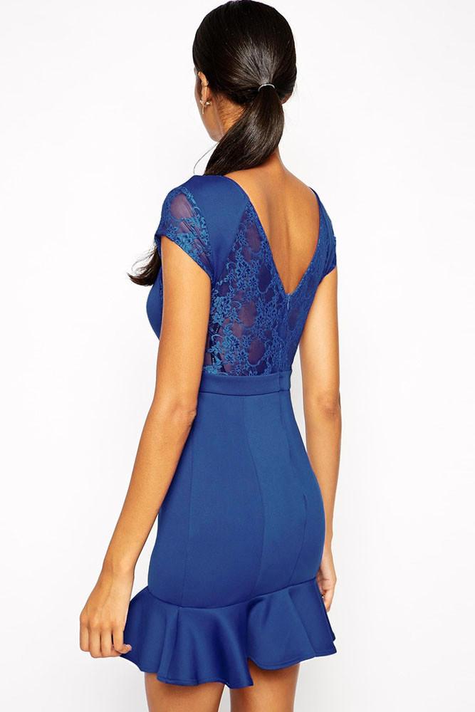 Modré dámské šaty d-sat427mo