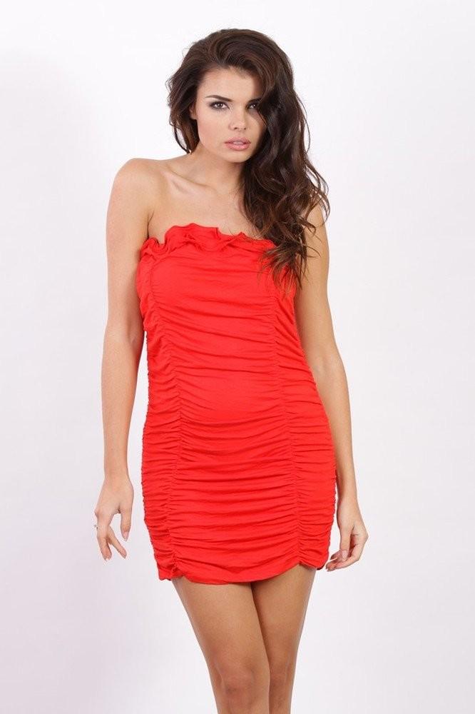 Dívčí elastické šaty k5936re