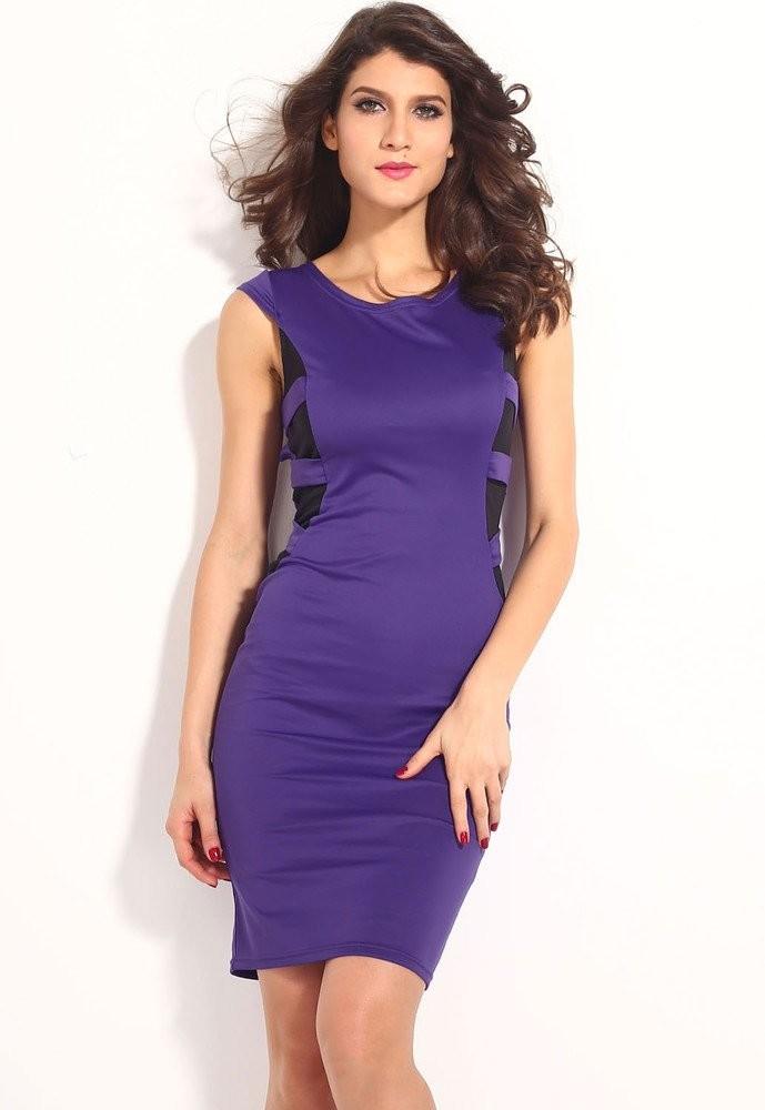 Fialové dámské šaty d-sat282fi