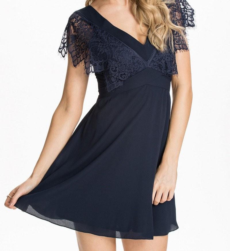 Modré společenské šaty d-sat431mo
