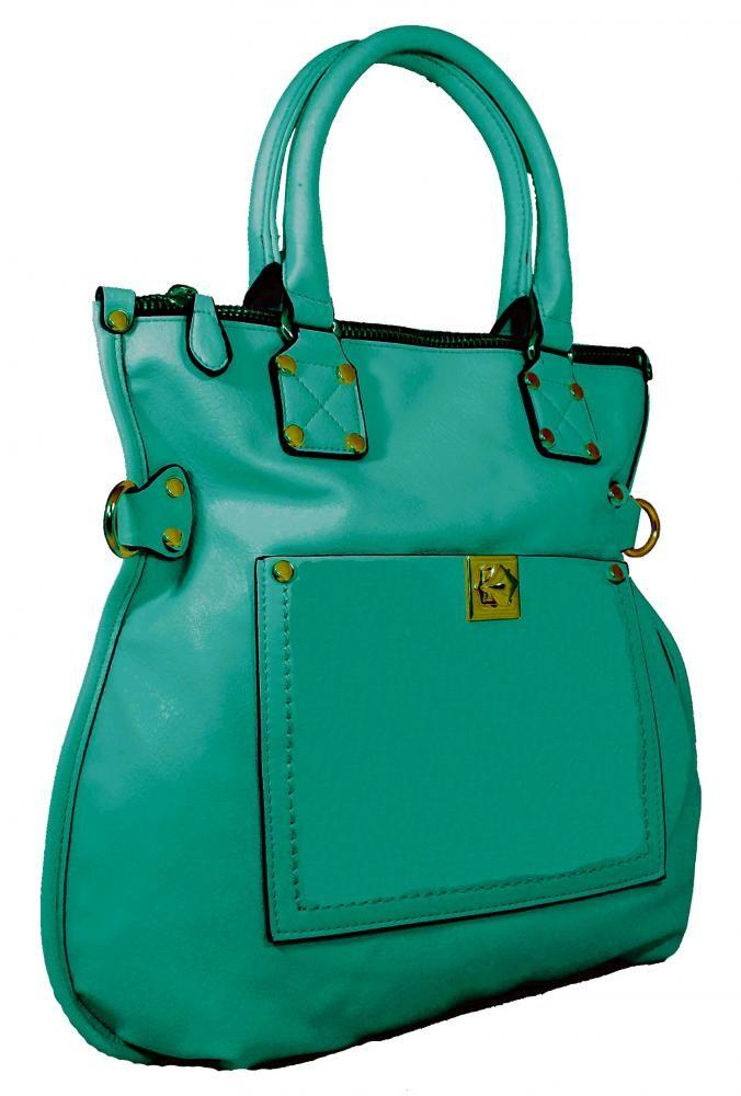 Velká dámská kabelka do ruky AAJ-12A zelená