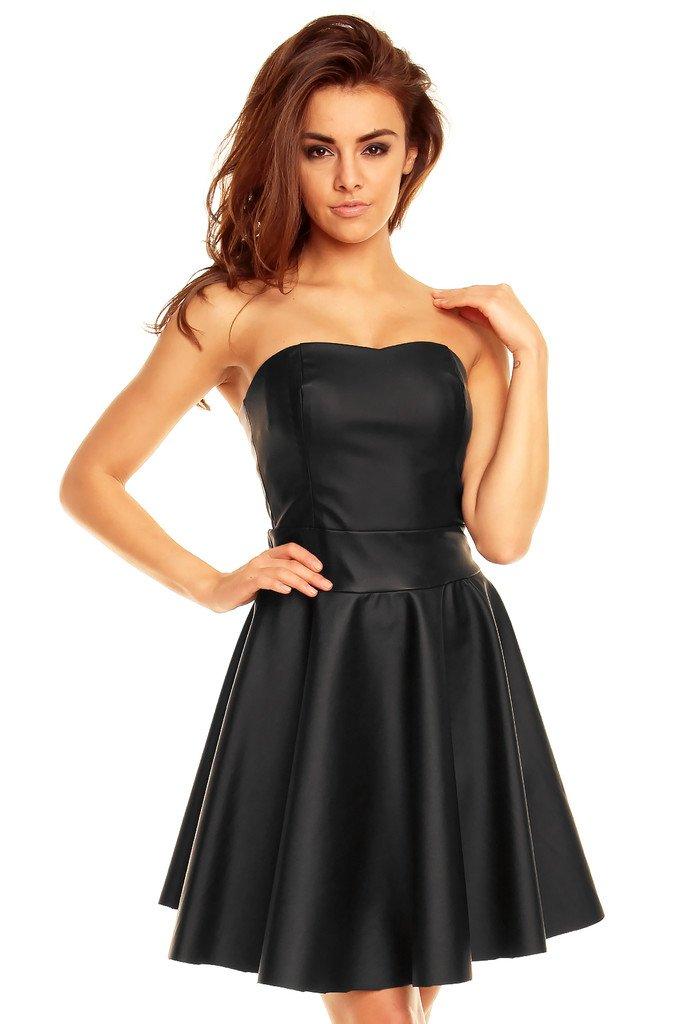 Kožené šaty KM128