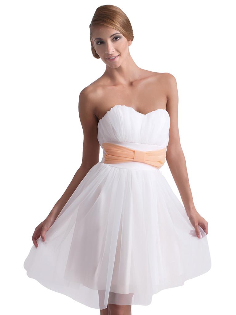 Bílé romantické šaty KM62-1