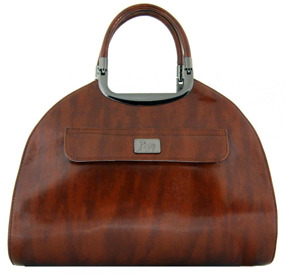 Hnědá luxusní kabelka do ruky 505-MH