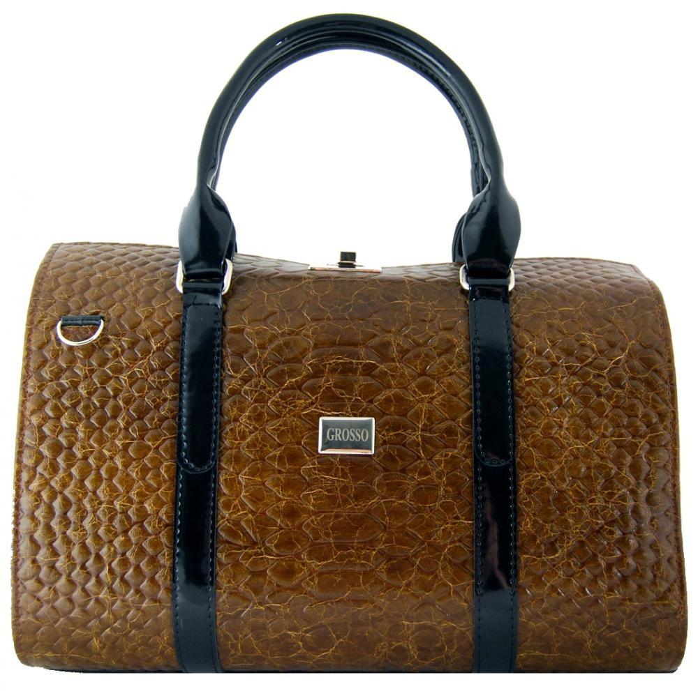 Kufříková kabelka do ruky se zámkem S463