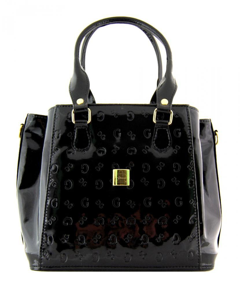 Luxusní G cejchovaná kabelka S447 černý lak