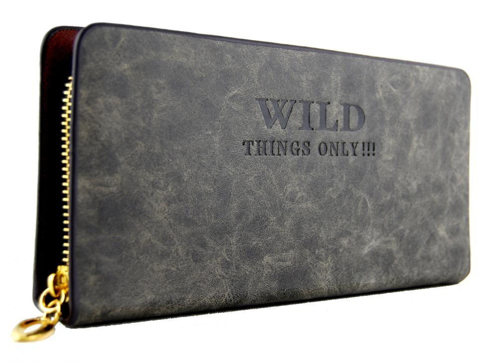 Moderní praktická dámská peněženka WILD 828 tmavě šedá
