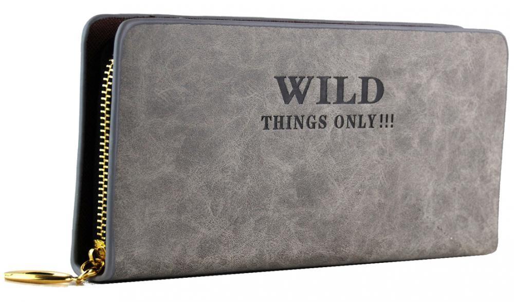 Moderní praktická dámská peněženka WILD 828 světle šedá