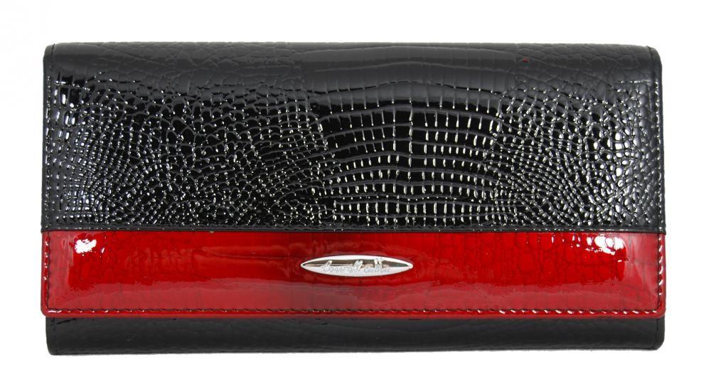 Dámská kožená peněženka v krabičce Cossroll 01-5242 černá