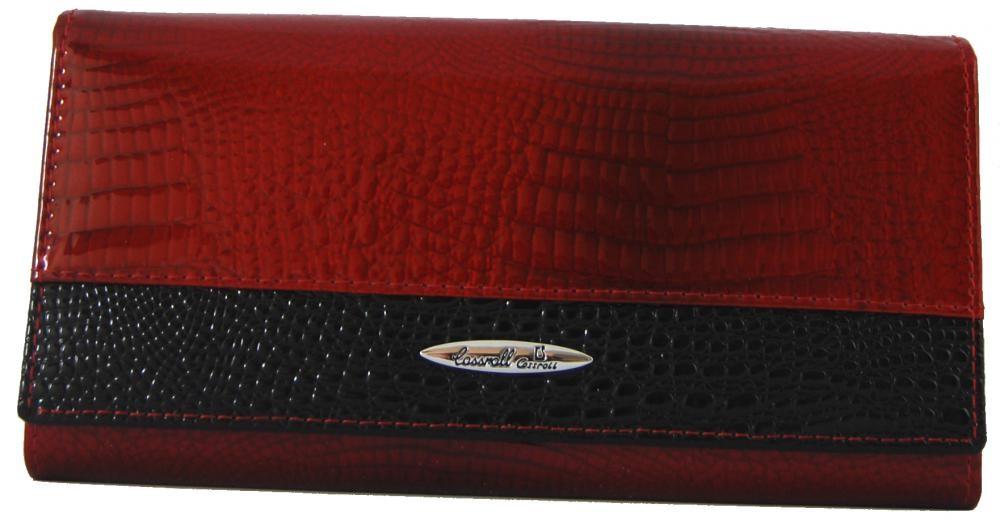 Dámská kožená peněženka v krabičce Cossroll 01-5242 červená