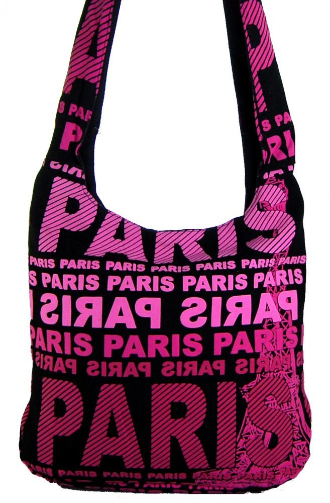 Moderní crossbody taška PARIS s růžovým potiskem