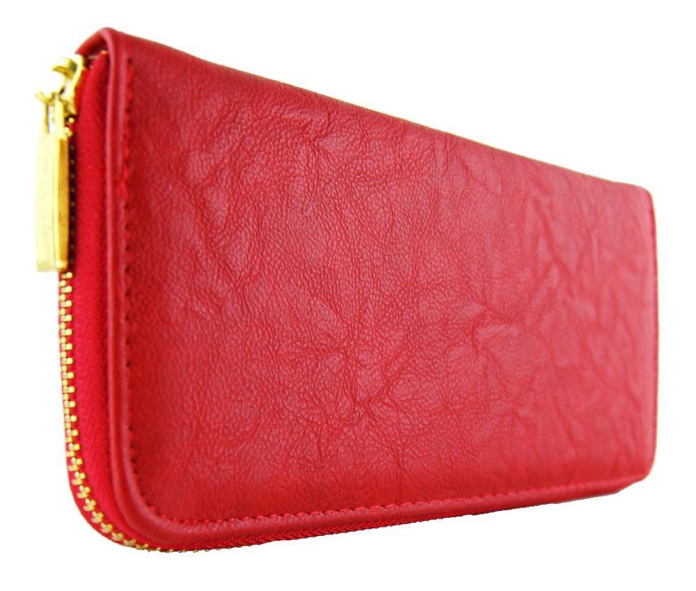 Praktická dámská peněženka červená FD-001
