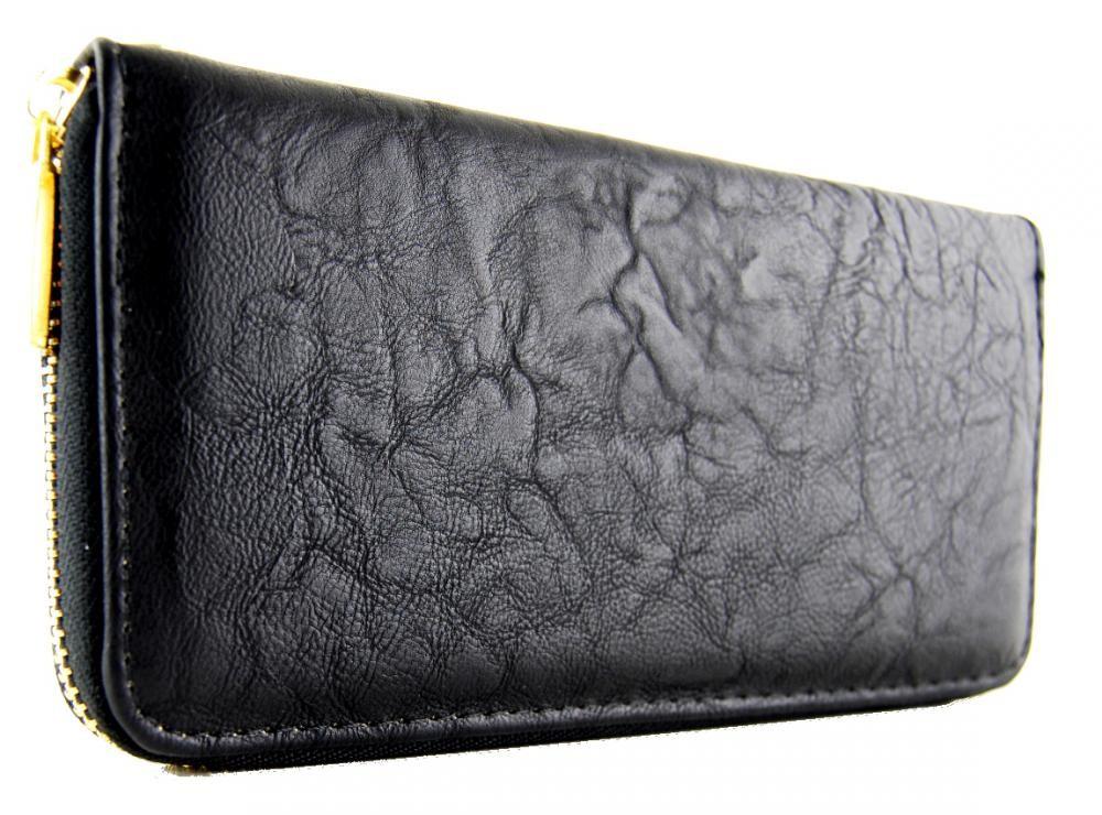 Praktická dámská peněženka černá FD-001