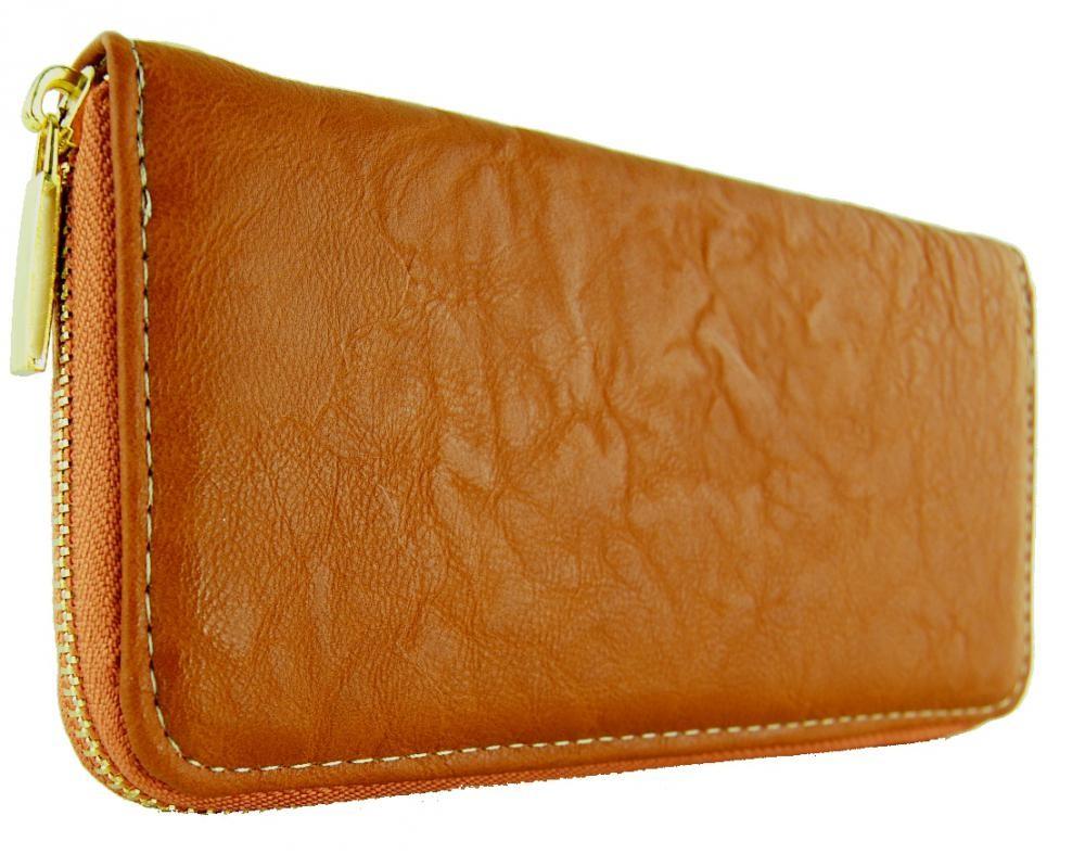 Praktická dámská peněženka hnědá FD-001