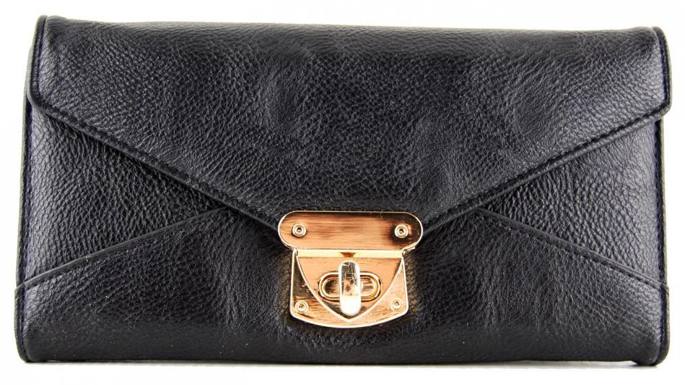 Praktická dámská peněženka se sponou FD-031 černá