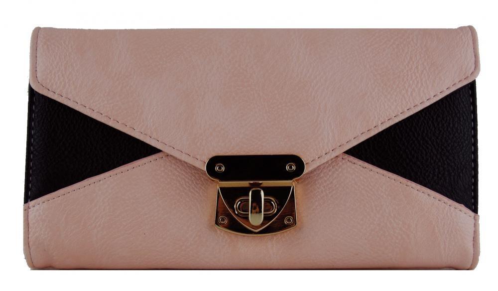 Praktická dámská peněženka se sponou FD-031 růžová