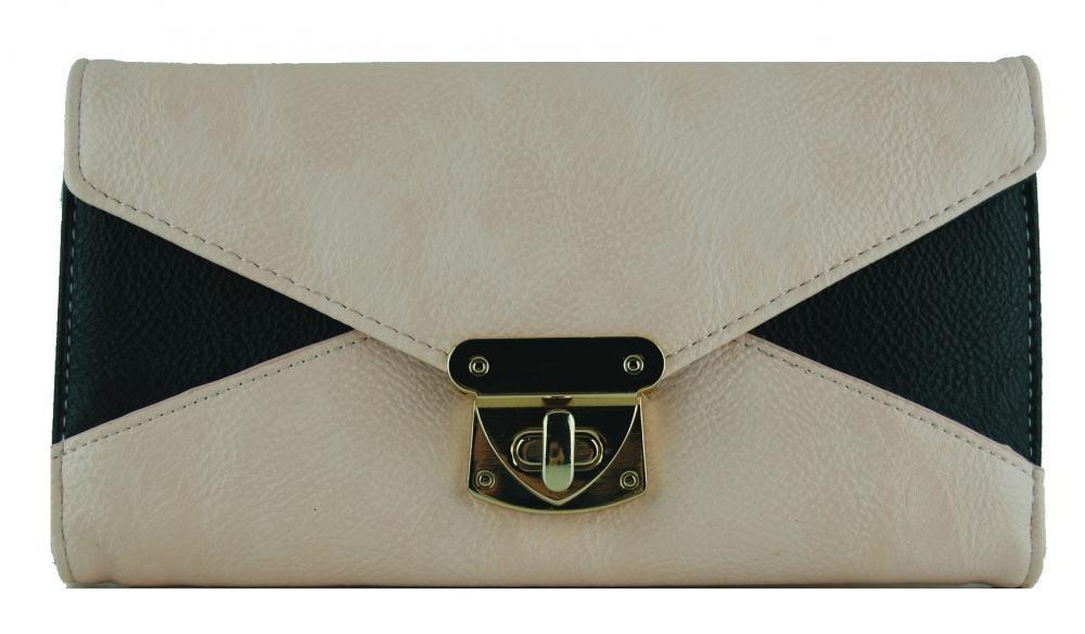 Praktická dámská peněženka se sponou FD-031 krémová