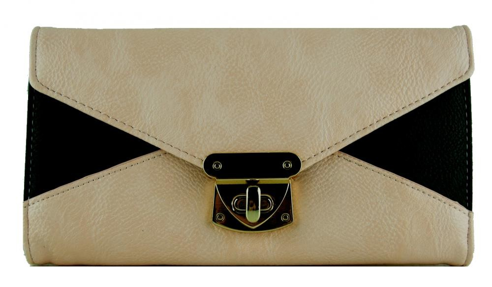 Praktická dámská peněženka se sponou FD-031 světlá latté
