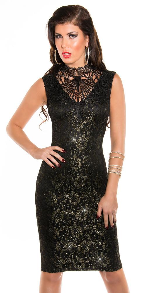 Společenské černé šaty in-sat181bl