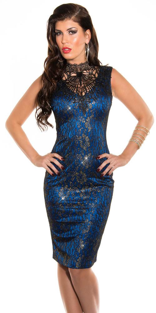 Šaty do společnosti - modré in-sat181mo