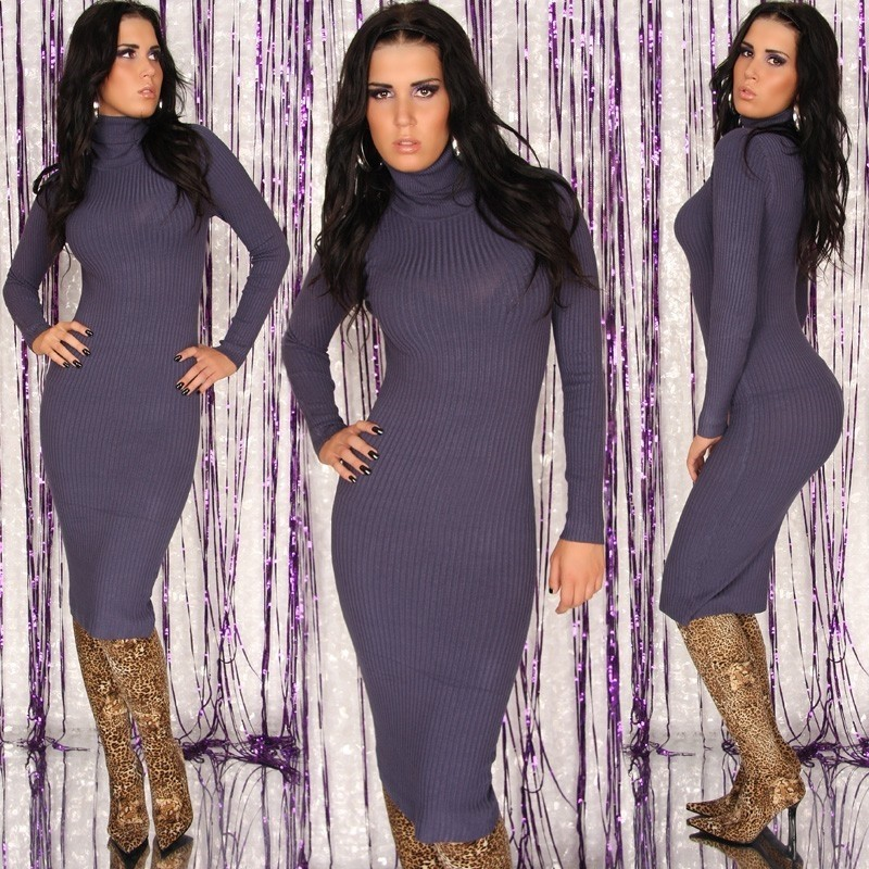 Pletené šaty s rolákem in-sat129mo