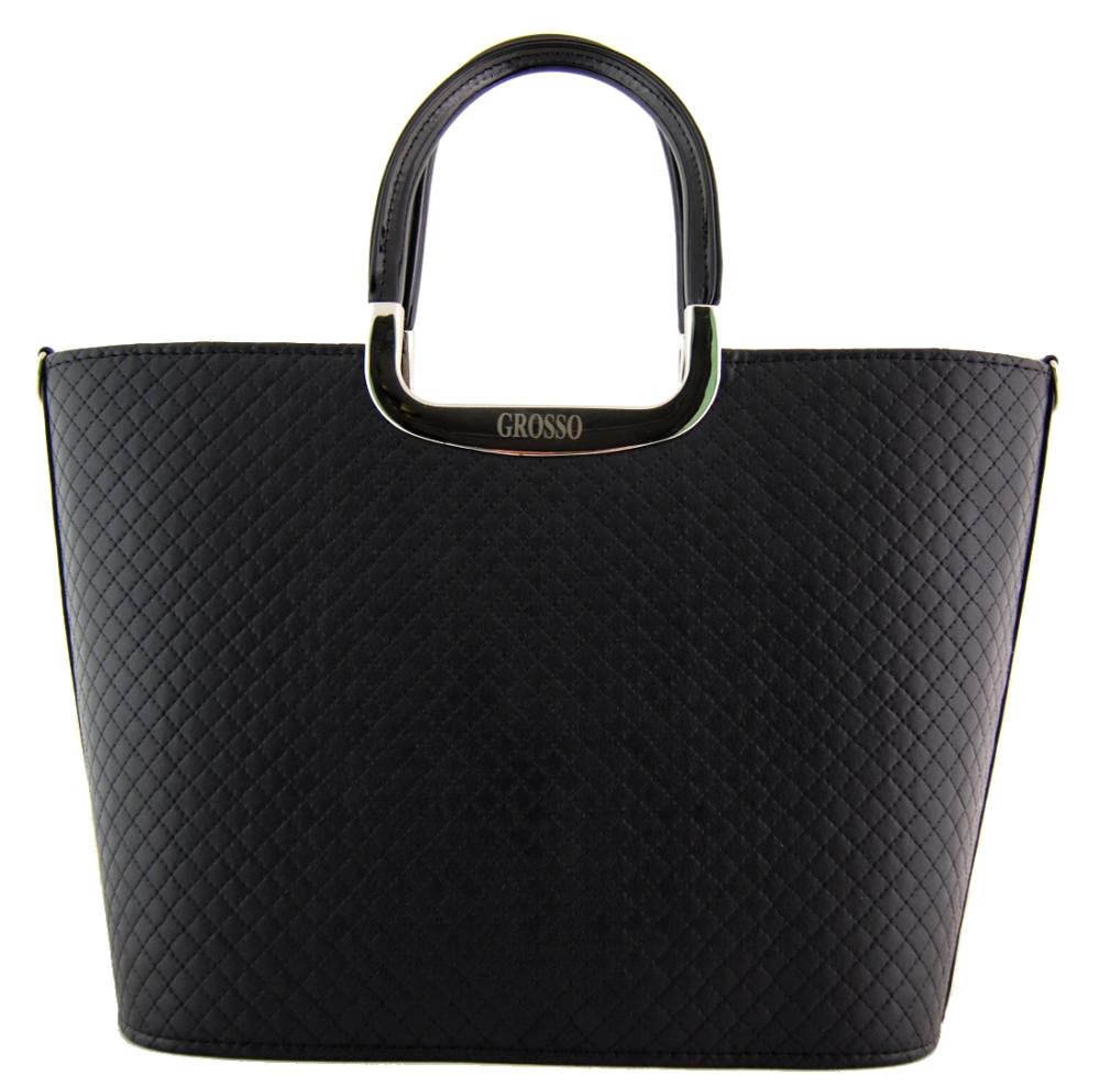 Luxusní černá matná čtvercová kabelka S7