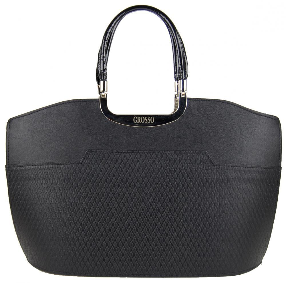 Černá matná kabelka do ruky S5