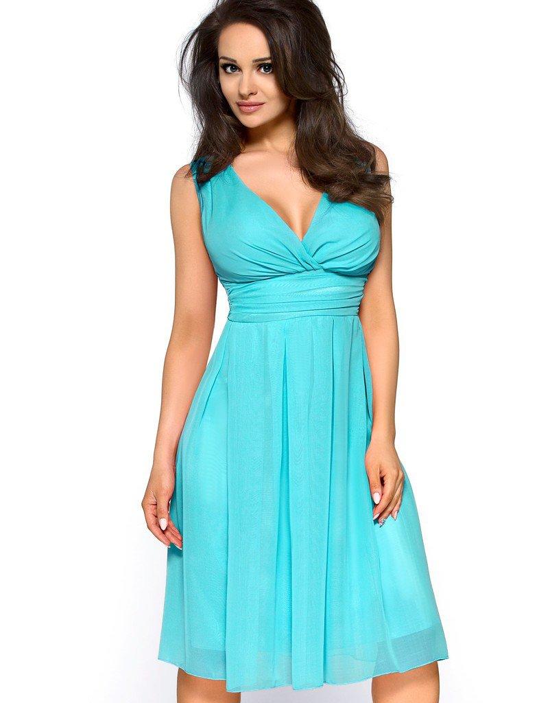 Tyrkysové šaty KM117-2