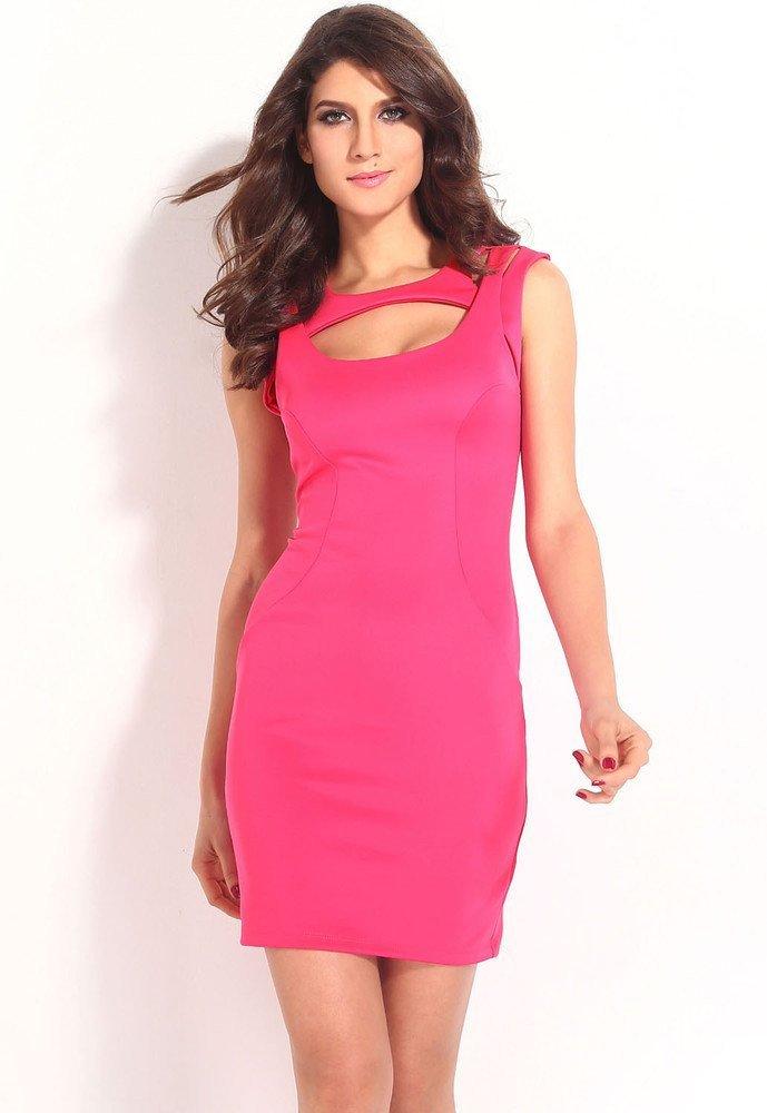 Růžové šaty dámské d-sat403pi