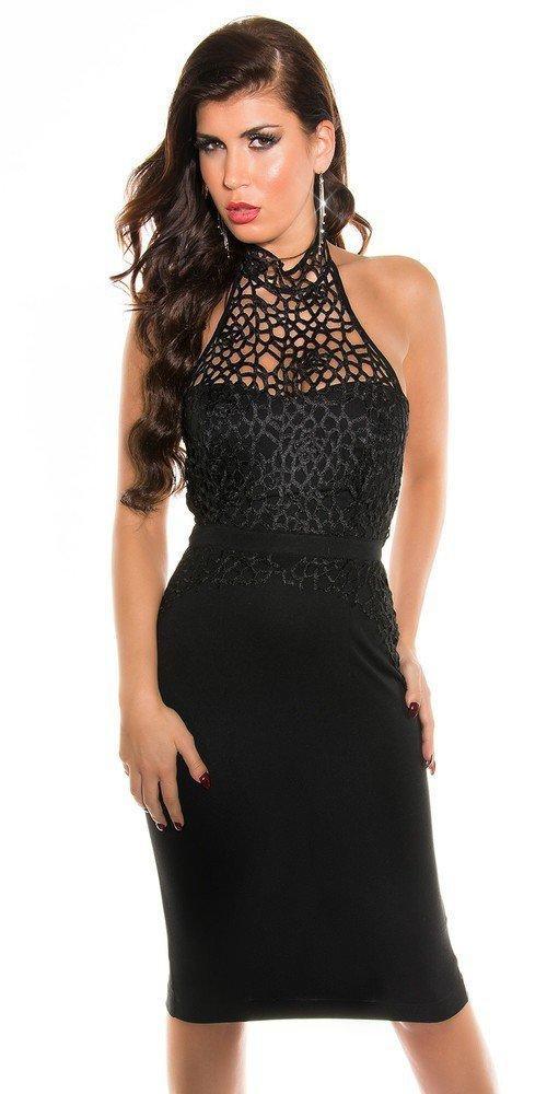 Černé večerní šaty in-sat167bl