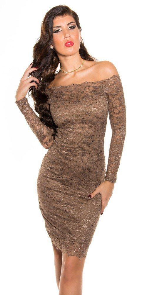 Společenské krajkové šaty in-sat166hn