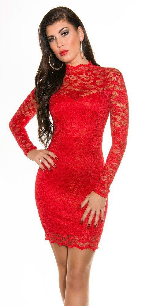 Společenské šaty - červené in-sat184re
